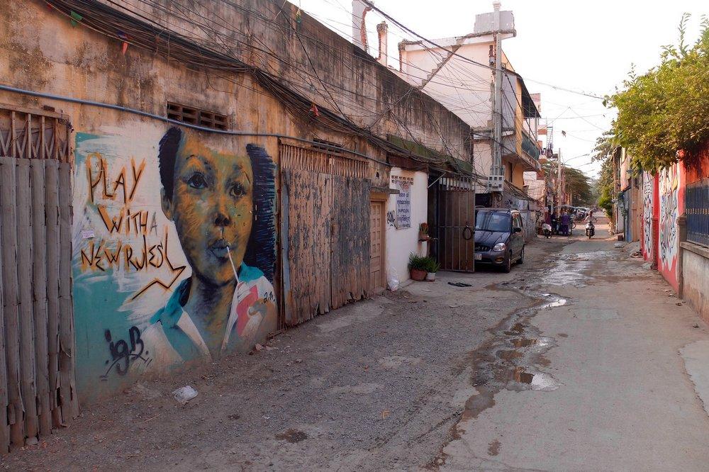 Graffiti at Lakeside, Phnom Penh