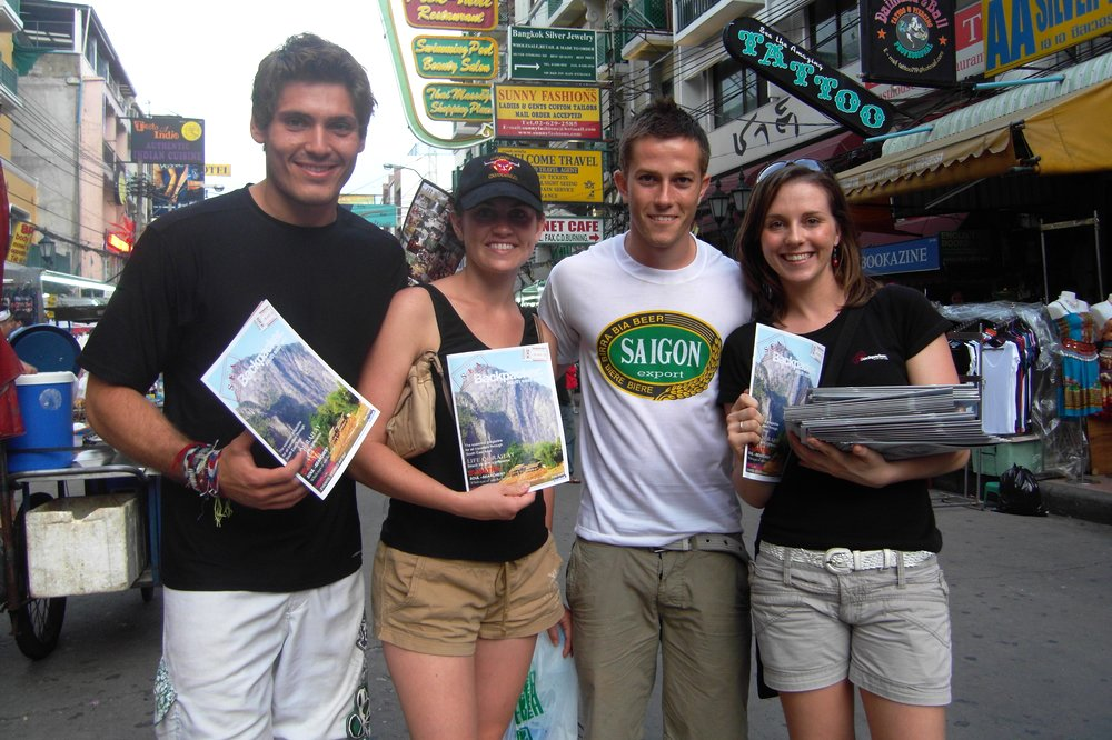 On Khao San Road Launch Day - Backpacker Turned Traveling Entrepreneur. Story of Nikki Scott