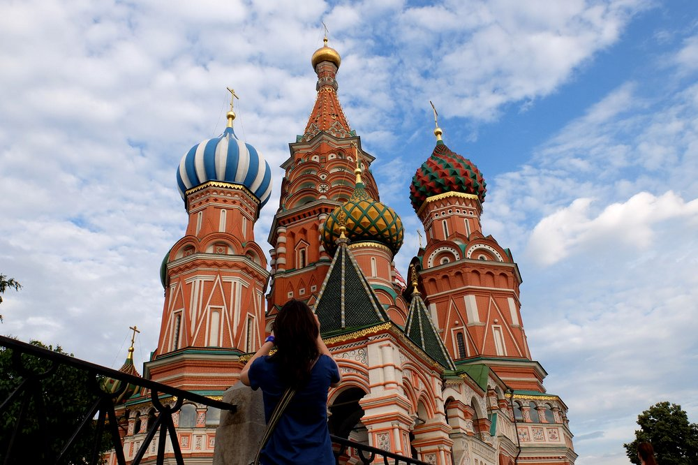 The Cathedral of Vasily the Blessed in Moscow - Traveling to Russia