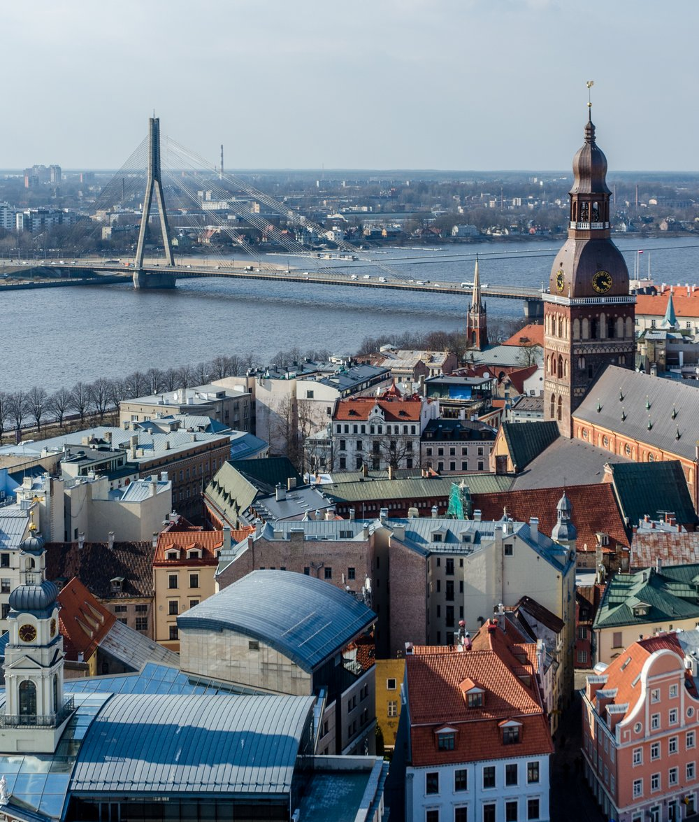 View of Riga from above