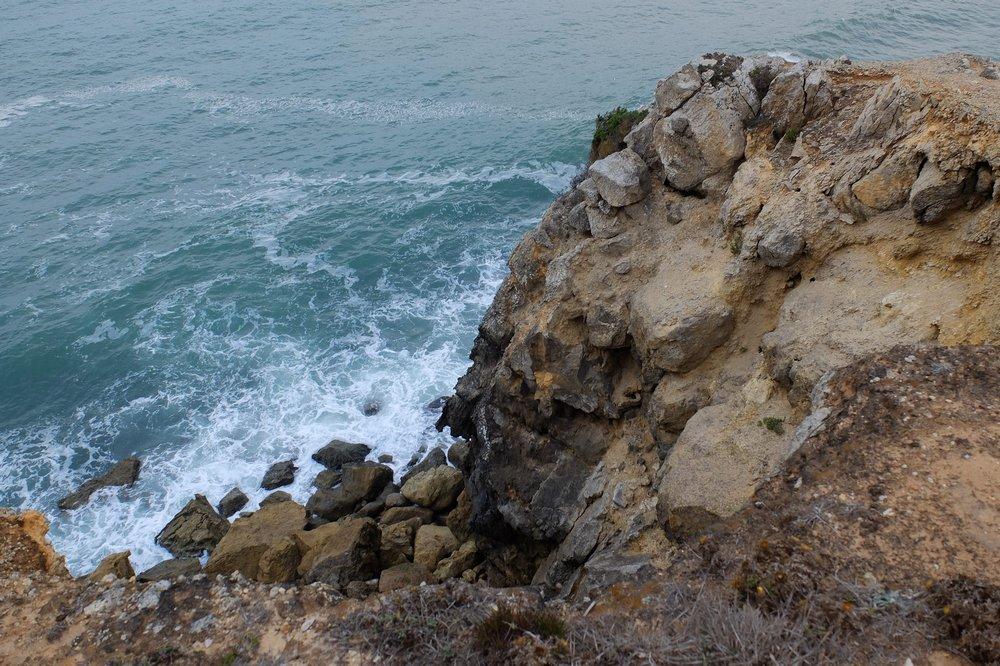 Cliffs at Praia de Sao Martinho do Porto - Central Portugal