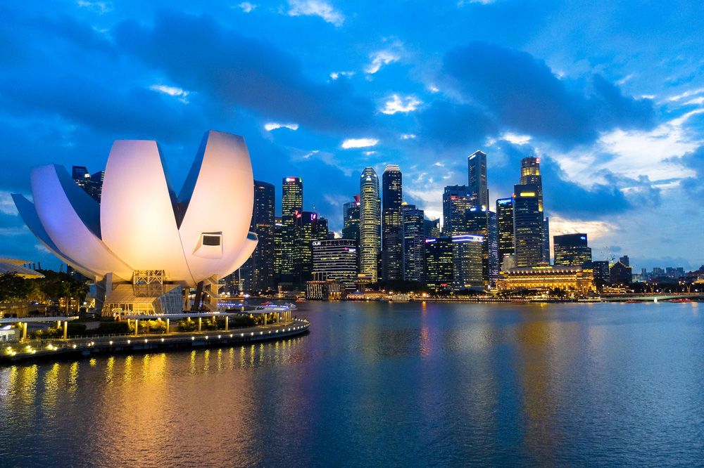 Singapore skyline at night - Singapore Ultimate Guide