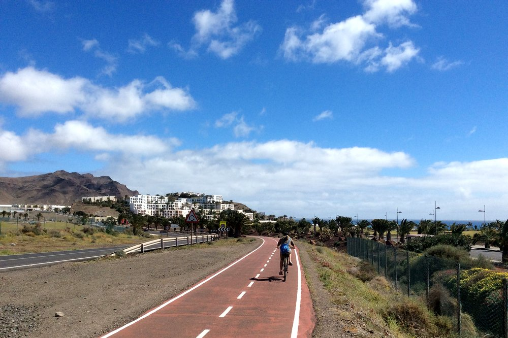 Una cycling in Fuerteventura, Canary Islands