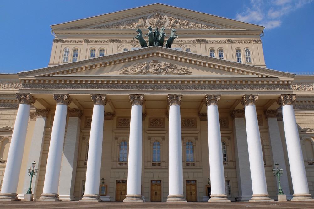 The Bolshoi Theatre (Big Theatre) in Moscow
