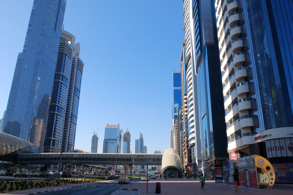 Central part of Dubai - Stopover in Dubai