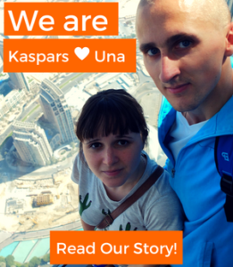 Kaspars and Una - About Page - Banner