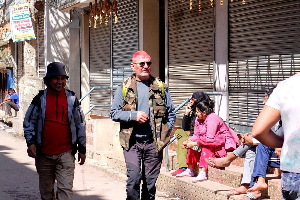Elderly man - Kathmandu - Holi in Nepal
