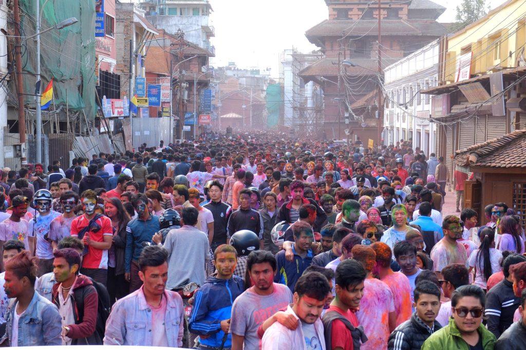 People on the streets - Kathmandu - Holi in Nepal