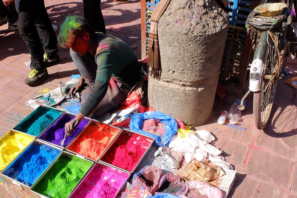 Where to buy powder for Holi - Kathmandu - Holi in Nepal