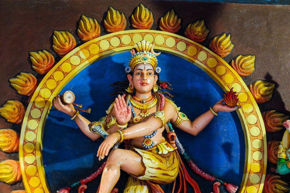 A hindu statue in Sri Mahamariamman Temple - Best Places to Visit in Kuala Lumpur