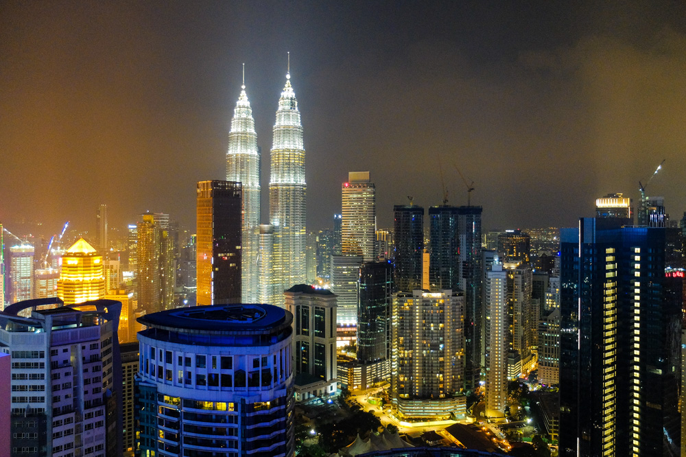 A night view of KL - Suria KLCC - Best Places to Visit in Kuala Lumpur