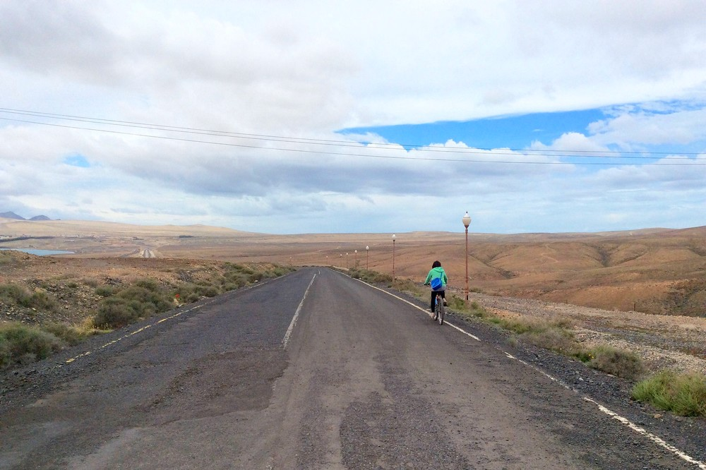 Best travel daypacks, cycling in Fuerteventura, Canary Islands