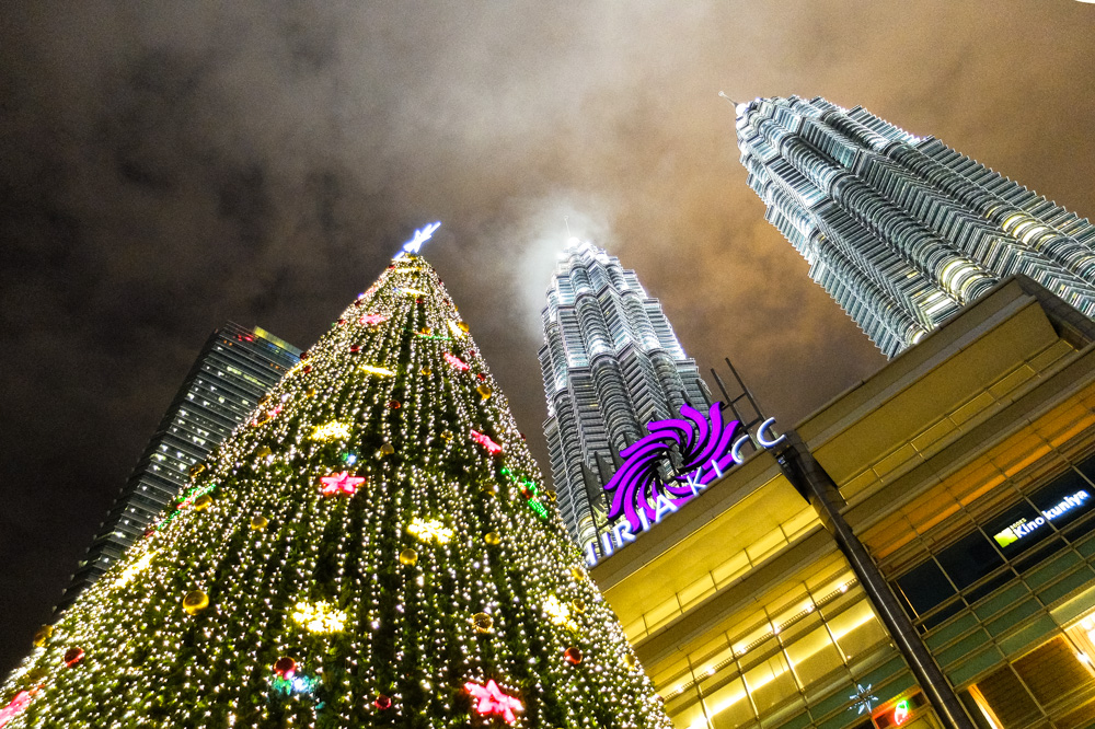 Christmas tree in KLCC park - Best Places to Visit in Kuala Lumpur
