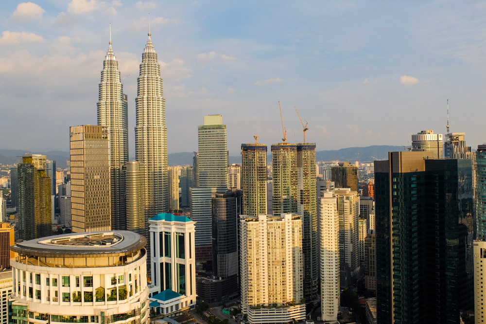 Kuala Lumpur, Malaysia as seen from the Face Suites - Best Places to Visit in Kuala Lumpur