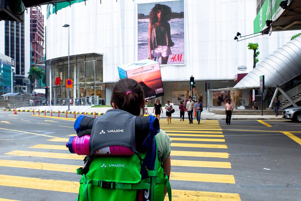 Una walking in Bukit Bintang - Best Places to Visit in Kuala Lumpur