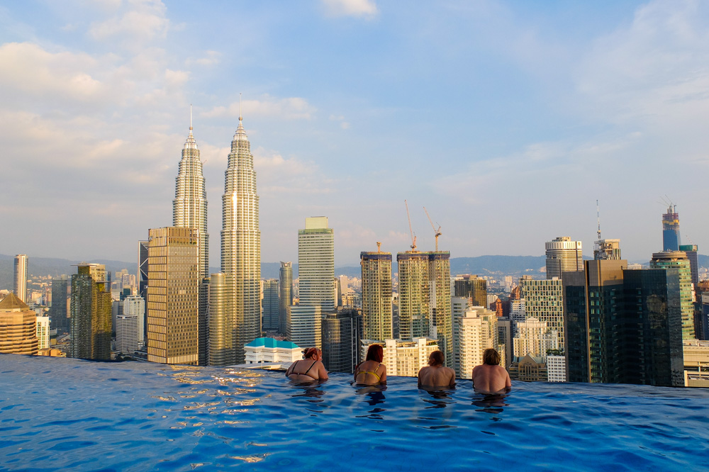 View from The Face Suites rooftop pool in Kuala Lumpur - Best Places to Visit in Kuala Lumpur