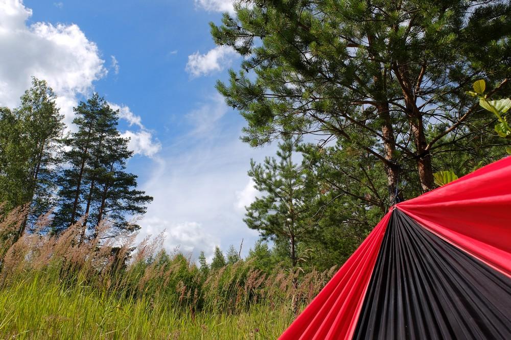 Sleeping in a hammock - Best Solar Power Bank