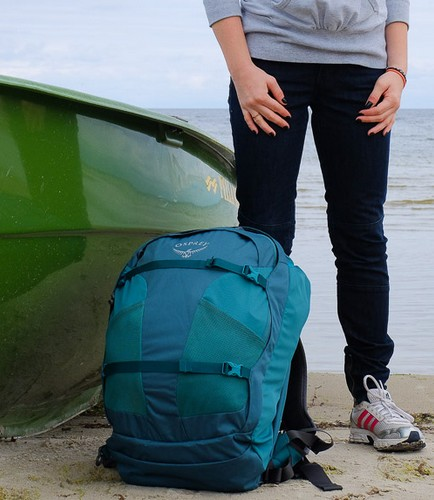 Osprey Fairview 40 Backpack and a Girl Standing v2 - Osprey Fairview 40 Review