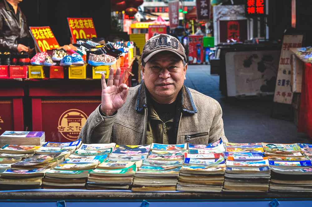 Street vendor in China - Best Books on China - Best Books on Asia