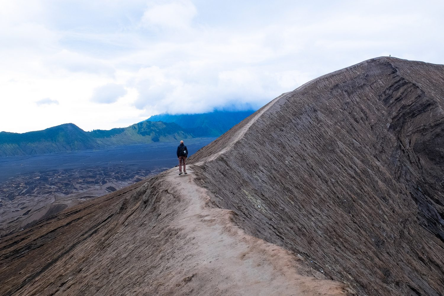 At the Bromo crater - Visa on Arrival in Indonesia