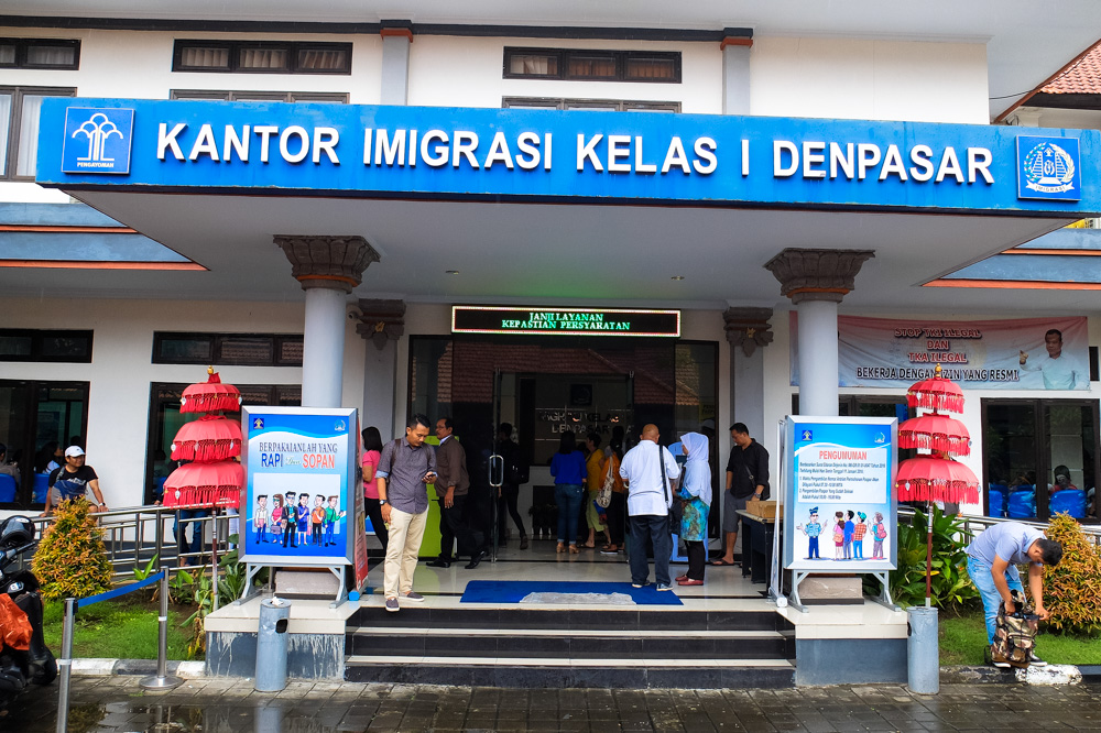 Immigration office in Denpasar, Bali - Visa on Arrival in Indonesia