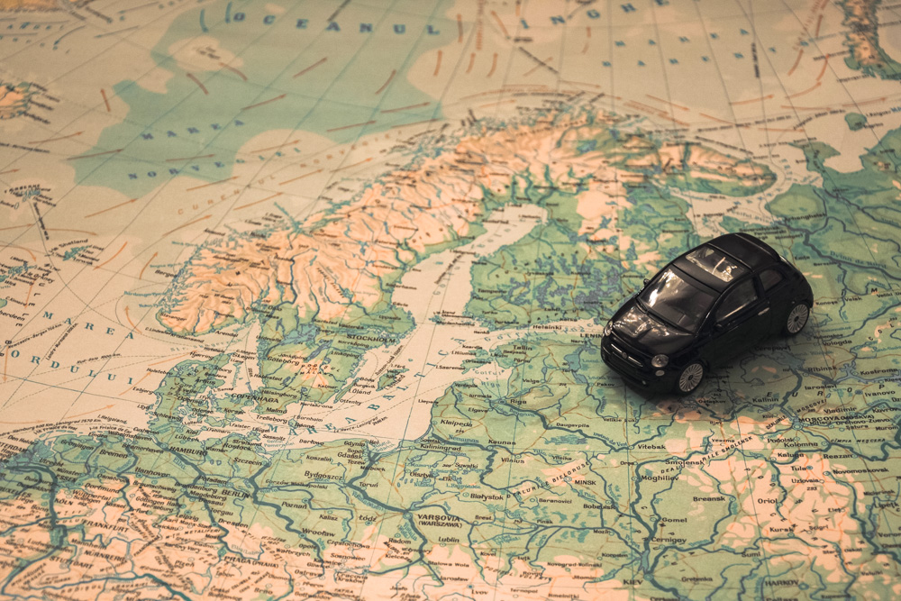 Toy car on a map - Best Duffel Bags for Travel