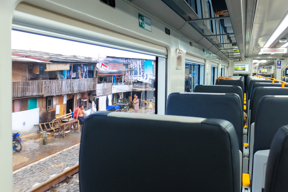 View from the train - Jakarta Airport Train