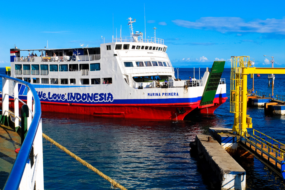 Slow ferry from Bali to Lombok