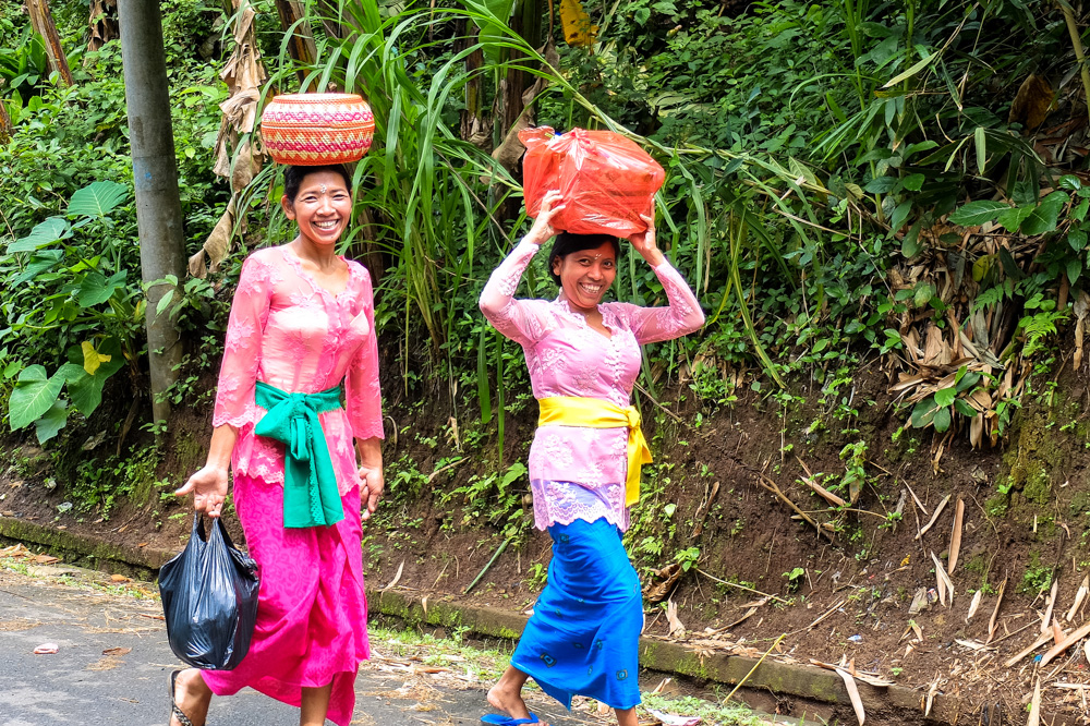 Balinese women in traditional clothing