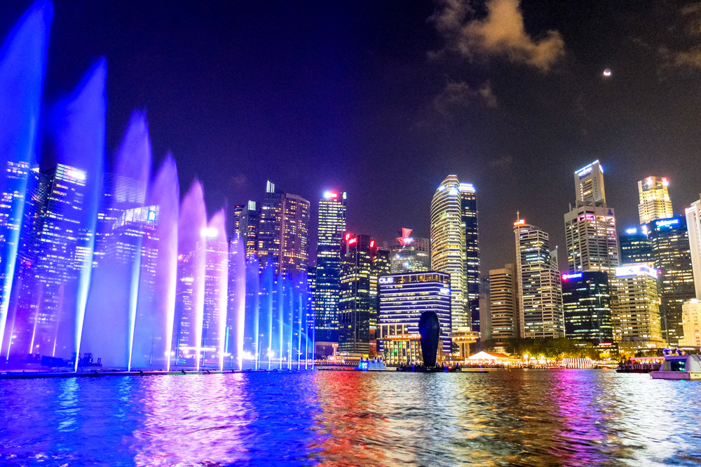 Fountain show in Singapore - Singapore - Java - Bali itinerary