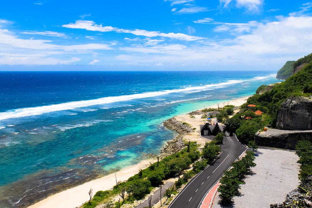 Melasti beach in Bali