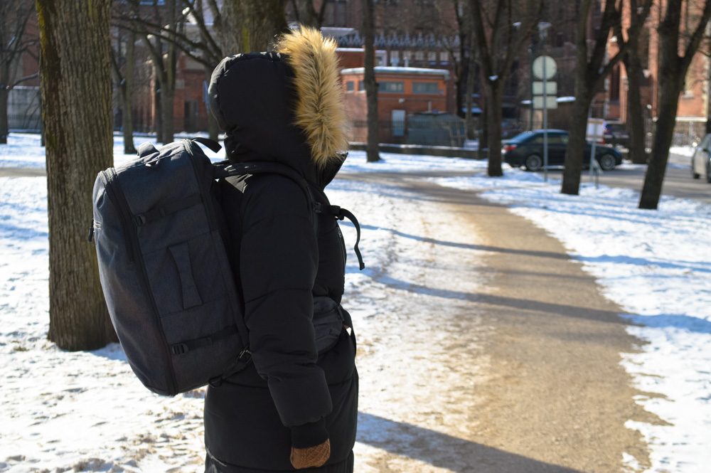 Tortuga Setout backpack from the side - Tortuga Setout Review