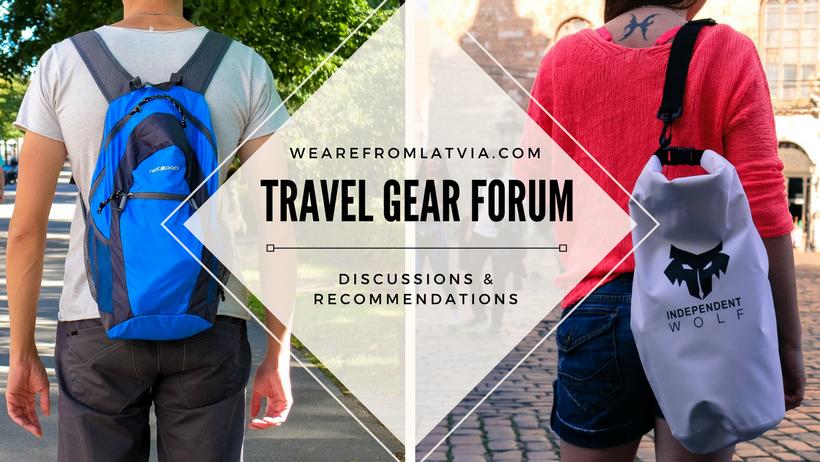 Travel gear forum banner