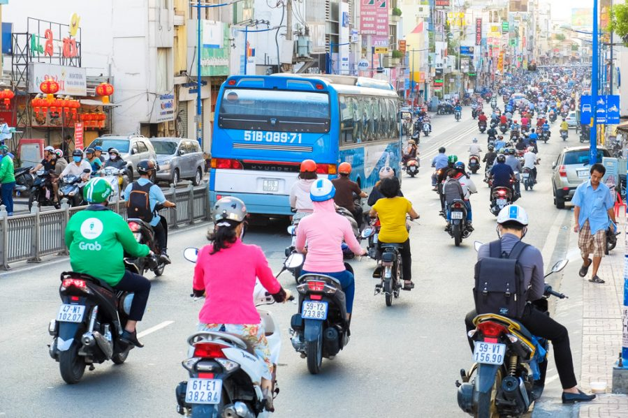 1 Traffic in Ho Chi Minh City - Vietnam Photo Story