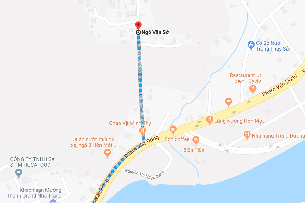 A map - Hiking in Nha Trang