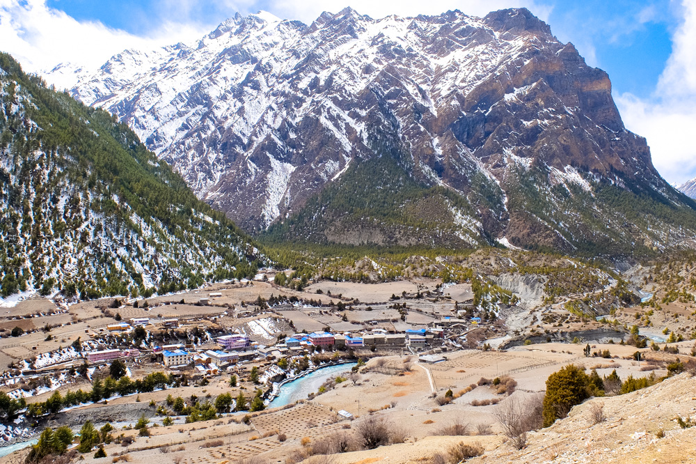 A view from Upper Pisang - Annapurna Circuit Photos