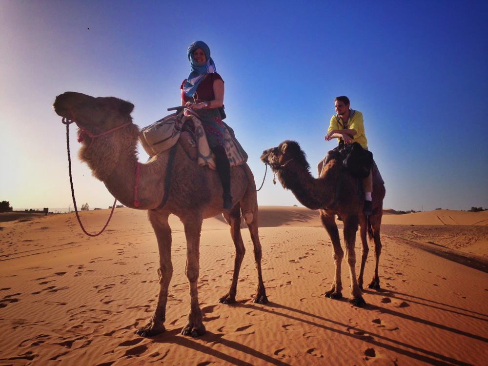Adrian in the dessert, in Morocco - Interview with Digital Nomad Adrian Sameli