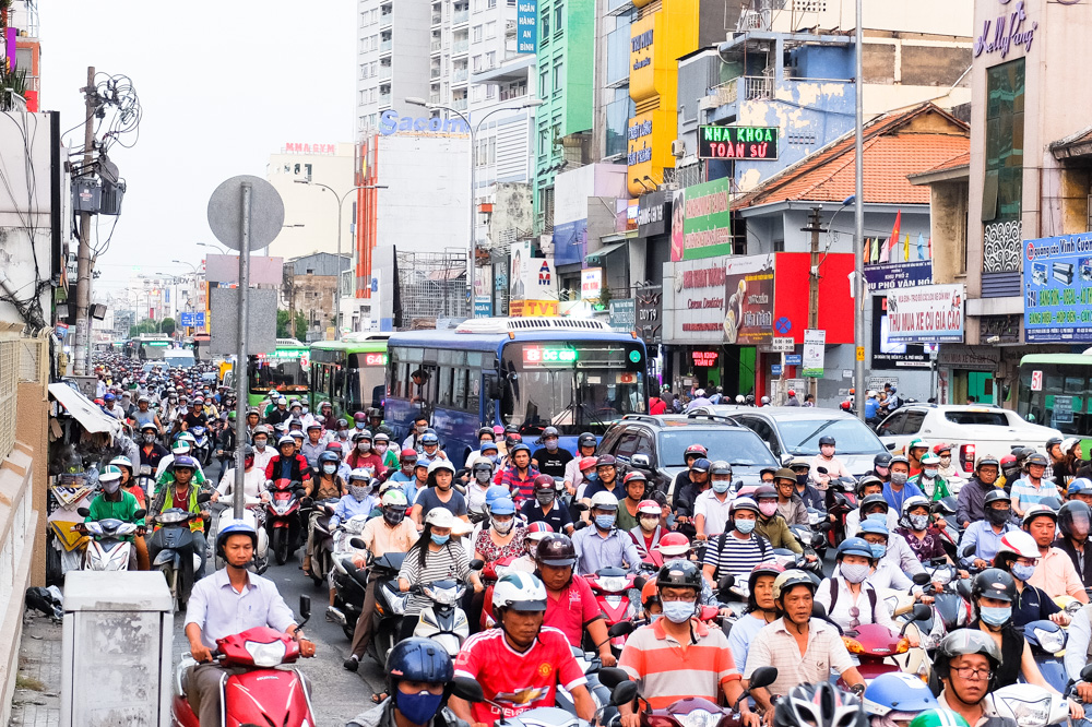 Evening traffic in Ho Chi Minh City, Vietnam - Vietnam Photo Story