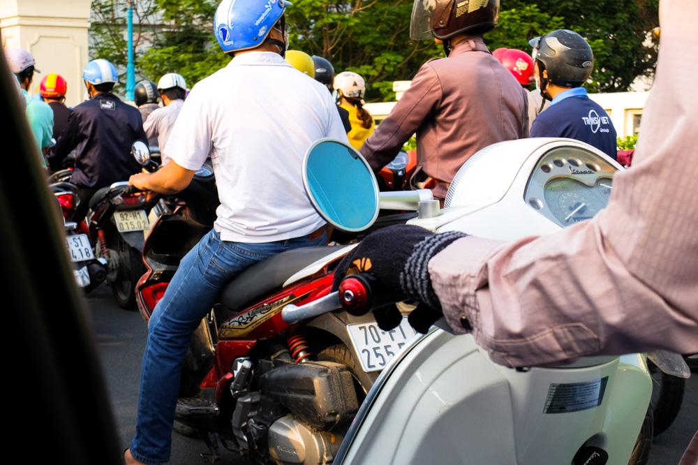 Hands - Steering the bike - Vietnam Photo Story