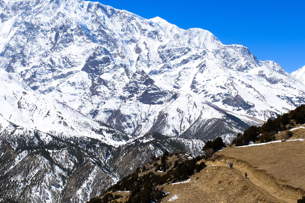 High mountains in Himalayas - Annapurna Circuit Photos