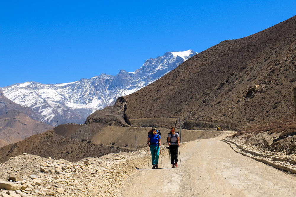 Hiking near Muktinath - Annapurna Circuit Photos