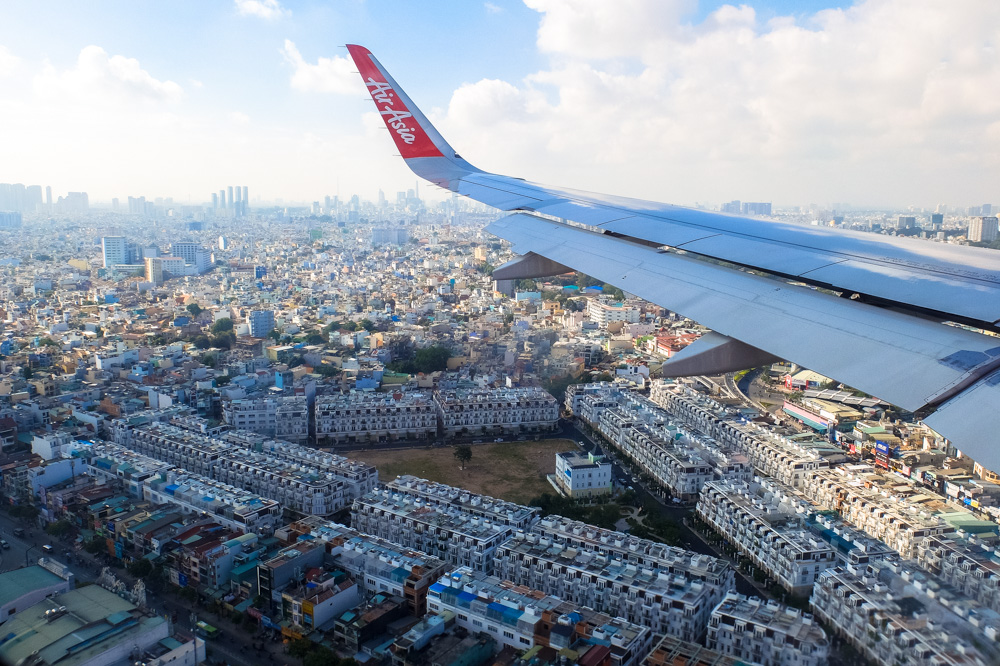 Ho Chi Minh City as seen from the plane - Best Travel Apps and Services
