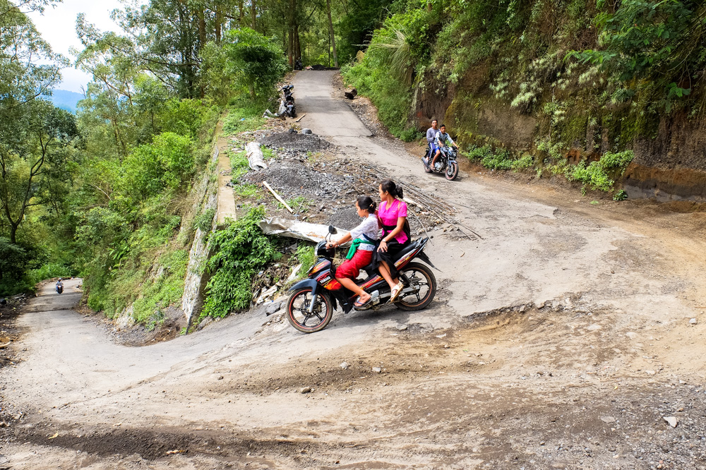 Mountain road in Bali - Riding a Scooter in Bali