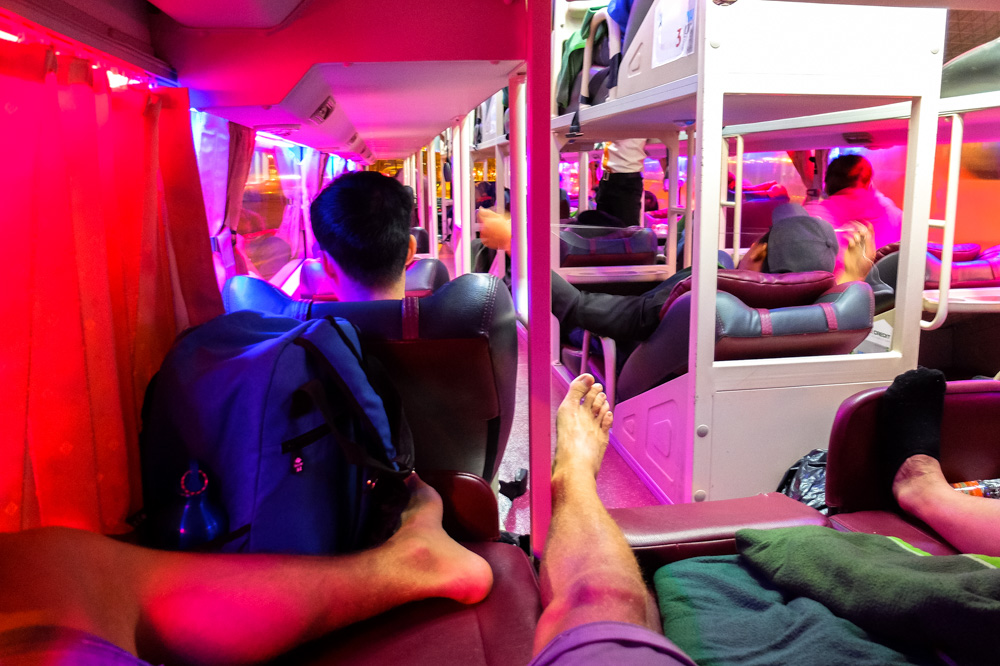On a sleeper bus in Ho Chi Minh City - Vietnam Travel Tips