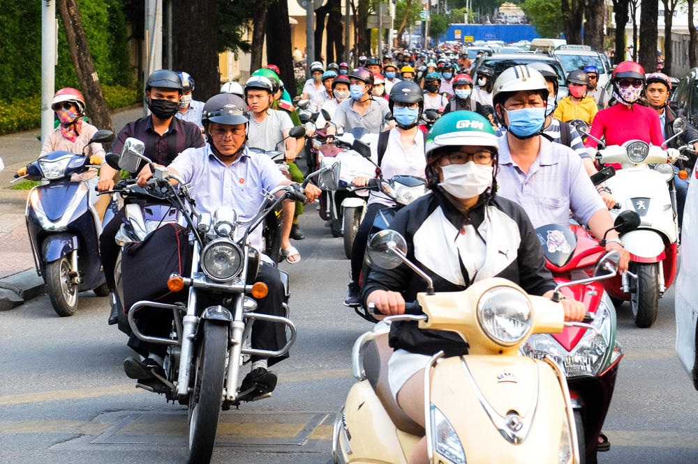 Scooters in Ho Chi Minh City - Vietnam Photo Story