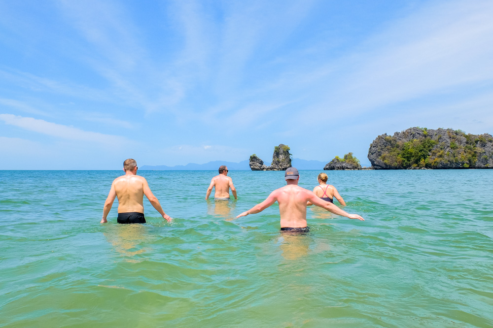 Going for a swim on the Tanjung Rhu beach - Best Things to Do in Langkawi