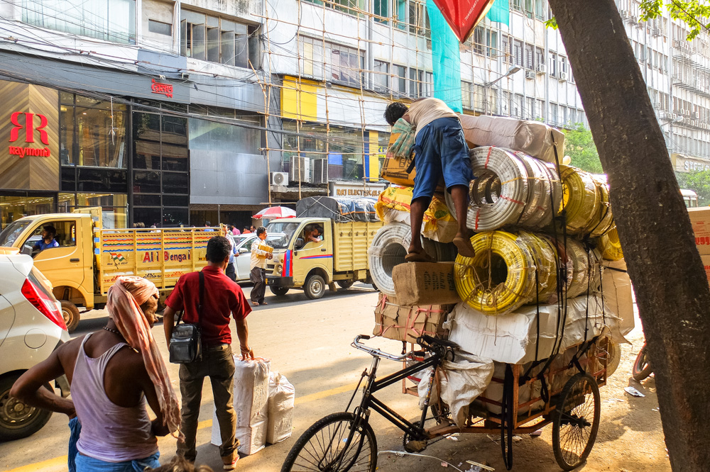 A bicycle rickshaw with load - 4 weeks in India