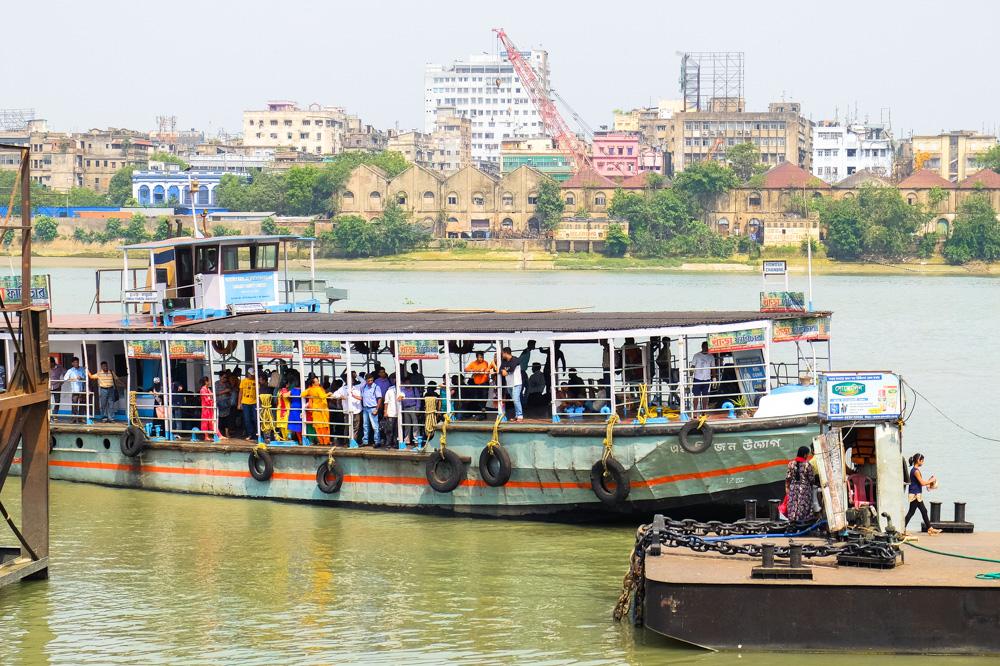 A river boat in Kolkata - 4 weeks in India