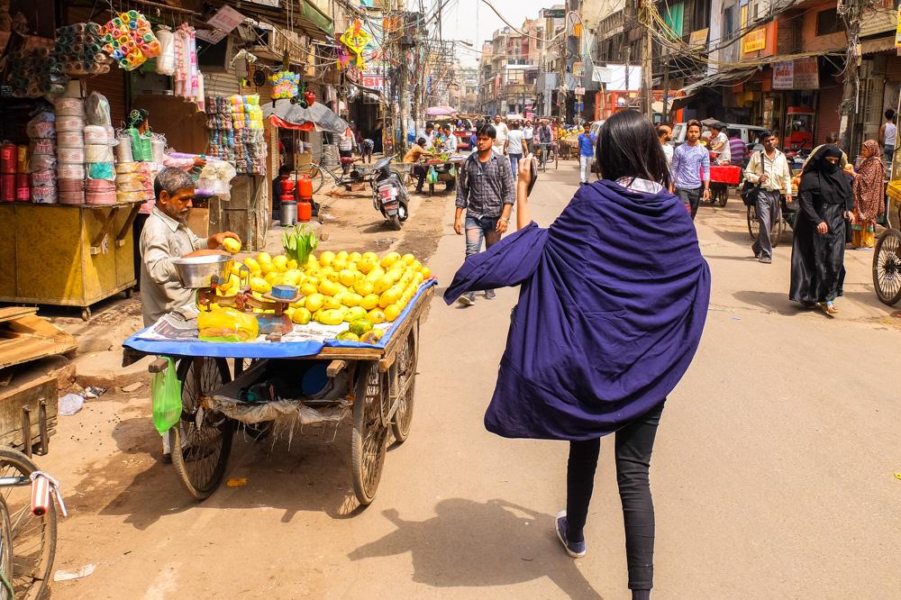 A street market in Delhi - 4 weeks in India