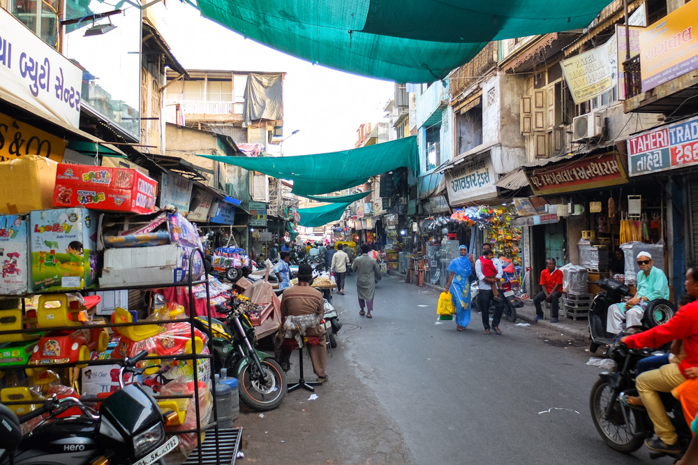 A street of Ahmedabad - 4 Weeks in India